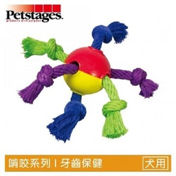 Petstages122 暢快繩結球  1入裝