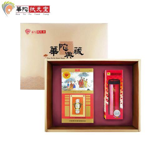 【華陀扶元堂】天官 東洋蔘茶禮盒(東洋蔘茶包35入+鍋寶保溫杯)x1