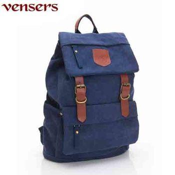 【Vensers】新潮流行包系列~後背包(D039301藍色)