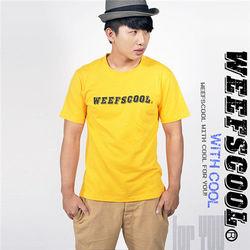 MIT基東森購物0800本款潮流文字T Weefscool 橙黃 (男)