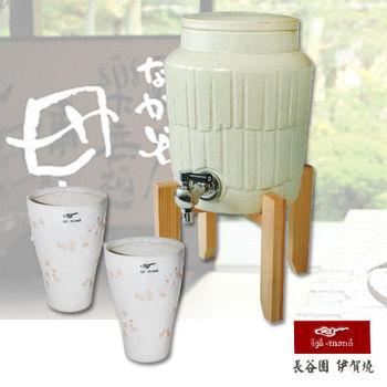 【日本長谷園伊賀燒】遠紅外線負離子陶水壺(白)