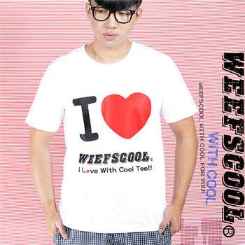 【WEEFSCOOL】MIT基本款潮流文字T I Love Weefscool 白 (男)