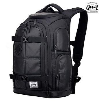 【GMT挪威潮流品牌】專業電腦背包 黑色,附17吋筆電夾層;旅遊包/登山包/雙肩背包/電腦包