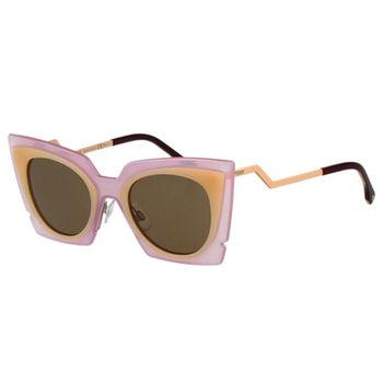 FENDI 時尚造型太陽眼鏡 (粉色)FF0117S
