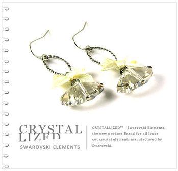 新光飾品-白金陰影優雅複古水晶耳環