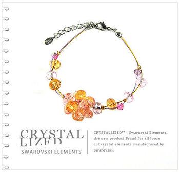 新光飾品-黃色魅影圓珠水晶手鏈