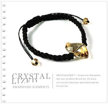 新光飾品-金色魅影狂潮異形石水晶手鍊