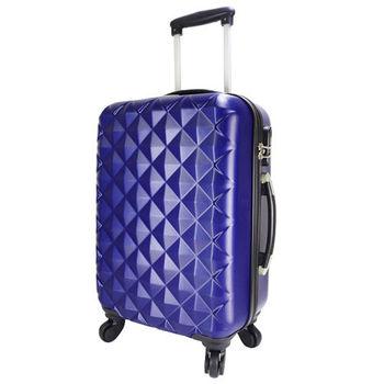 【NINORIVA】20吋時尚深藍菱格行李箱(P200003)