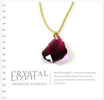 新光飾品-紅色妖姬水晶項鏈