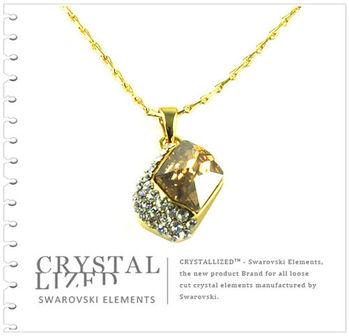 新光飾品-黃色魅影水晶項鏈