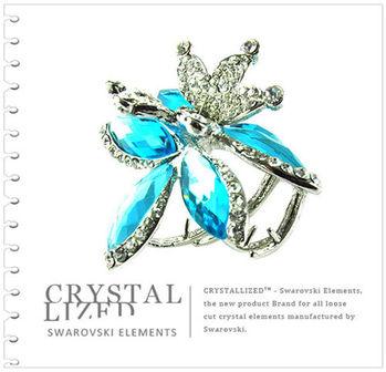 新光飾品-藍色魅影風情萬種水晶髮飾