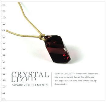 新光飾品-紅色魅影潮流異形石水晶吊墜