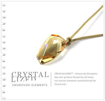 新光飾品-金色魅影潮流異形石水晶吊墜