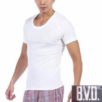 【BVD】時尚型男純棉U領短袖內衣~6件組 M-LL