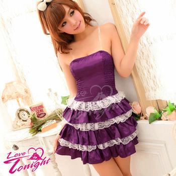 【Sexy Queen】深情紫色澎澎連身裙小洋裝公主角色扮演服