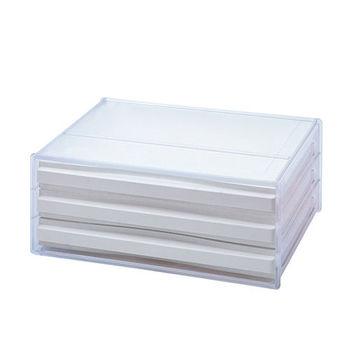【U-SONA】三層橫式桌上資料文件櫃 (3橫式低抽)
