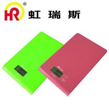 【Home Resource】虹瑞斯方彩食物料理秤 (隨機出貨)粉/綠 SCA-001