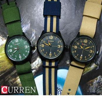 CURREN質感經典軍風帆布錶