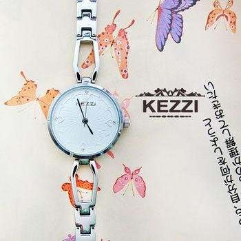KEZZI氣質愛心晶鑽鍊錶