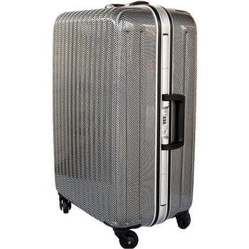 【YC Eason】名將系列璀璨鏡面鋁框PC行李箱(28吋-格子黑)