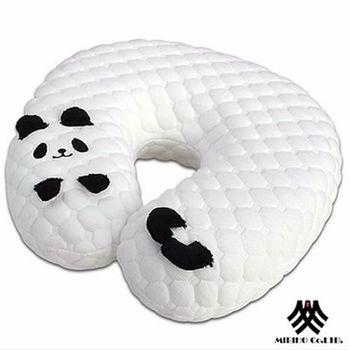 【M.B.H】酷酷貓熊U型記憶枕/頸枕