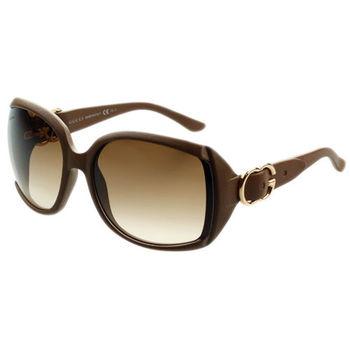 GUCCI- 扣環系列 太陽眼鏡 ( 淺咖啡色)