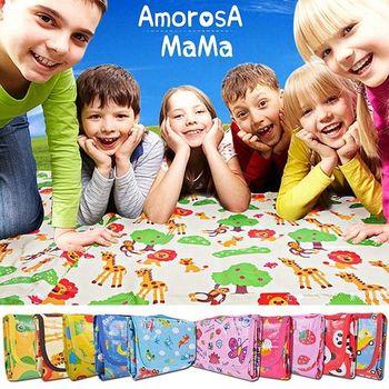 【Amorosa Mama】折疊手提式戶外野餐墊/遊戲墊/地墊 (十色任選)