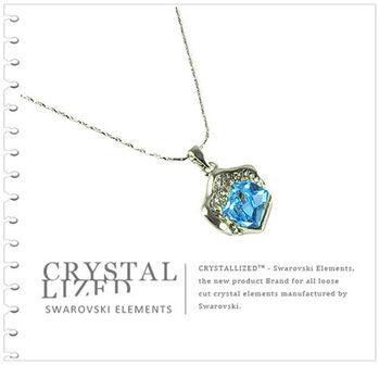 新光飾品-藍色魅影水晶項鏈