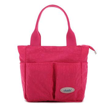 【YABIN台灣總代理】時尚媽媽包設計款小號媽咪包(枚紅色)