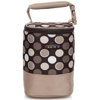 Colorland 母乳保冷運輸袋 副食品保溫袋(小)-咖啡圓點