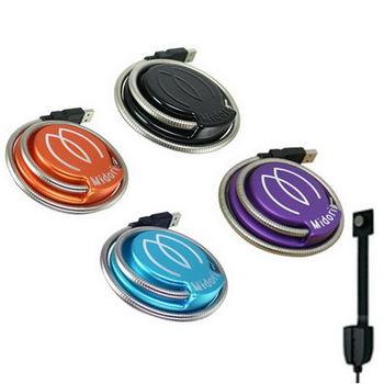 Midori 二代 超亮CREE USB LED廣角蛇管燈/桌燈-附支架,USB延長線(可選色)
