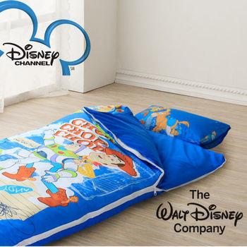 【R.Q.POLO】迪士尼-巴斯光年 純棉兒童冬夏兩用書包型睡袋(4.5X5尺)