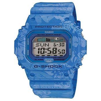G-SHOCK 扶桑花海灘風格衝浪競技運動腕錶-藍-GLX-5600F-2