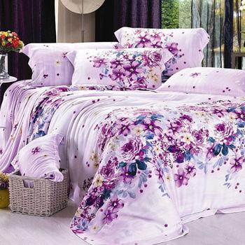 Betrise寄語思念 加大100%天絲TENCEL四件式鋪棉兩用被床包組