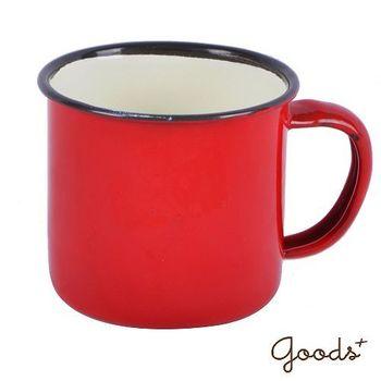 【goods+】復古琺瑯 經典素色咖啡7號杯_EC02(紅)