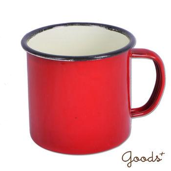 【goods+】復古琺瑯 經典素色咖啡6號杯_EC05(紅)