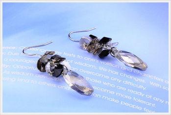 新光飾品-新款施華洛水晶透明貴氣耳環
