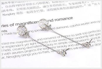 新光飾品-新款施華洛水晶球形耳環