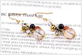 新光飾品-新款施華洛水晶透明水滴耳環