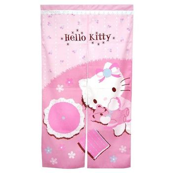Hello Kitty抱熊長門簾83x150cm(KT0413)