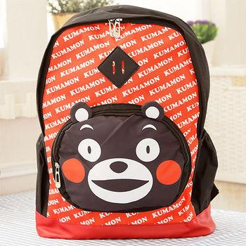Kumamon熊本熊 可愛豬鼻後背書包/後背包-紅色