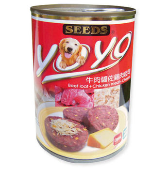 【SEEDS】聖萊西 YOYO狗罐-牛肉醬佐雞肉起司375G x 24入