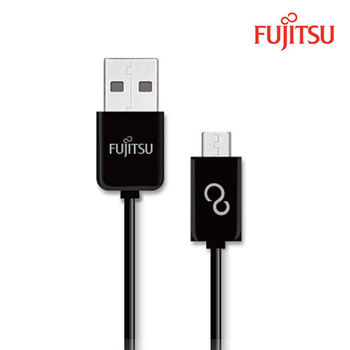 FUJITSU富士通MICRO USB傳輸充電圓線-100CM(黑)