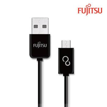 FUJITSU富士通MICRO USB傳輸充電圓線-150CM(黑)