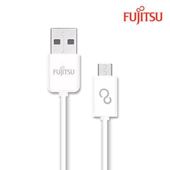 FUJITSU富士通MICRO USB傳輸充電圓線-15CM(白)