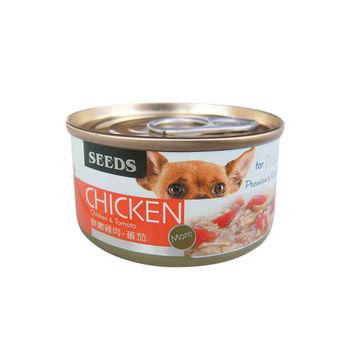 【SEEDS】CHICKEN愛狗天然食-雞肉+番茄 狗罐 70g X 24入