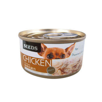 【SEEDS】CHICKEN愛狗天然食-鮮嫩純雞肉 狗罐 70g X 24入