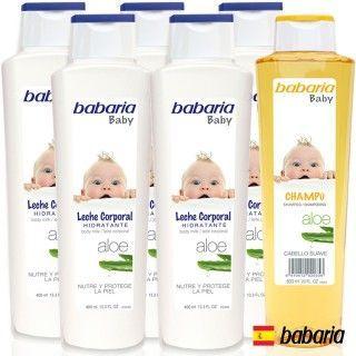 【西班牙Babaria】寶貝乳木果呵護身體乳400ml超值五件(送洋甘菊洗髮精600ml)