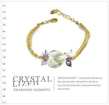 新光飾品-黃色魅影時來遠轉水晶手鏈