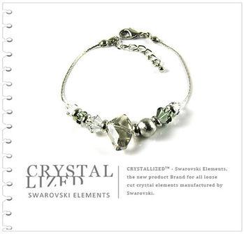 新光飾品-黑魅媚人白領小資情調水晶手鏈